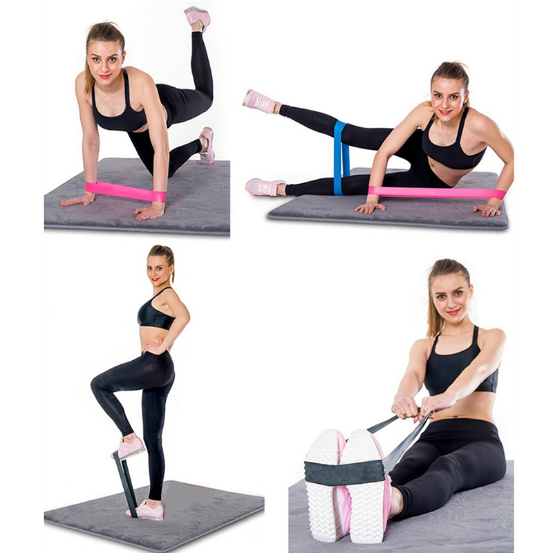 5 Colors Yoga Resistance Rubber Bands Fitness Strength Training Workout Expander Rubber Loop Latex Gym Pilates Yoga Elastic Band in Resistance Bands from Sports Entertainment