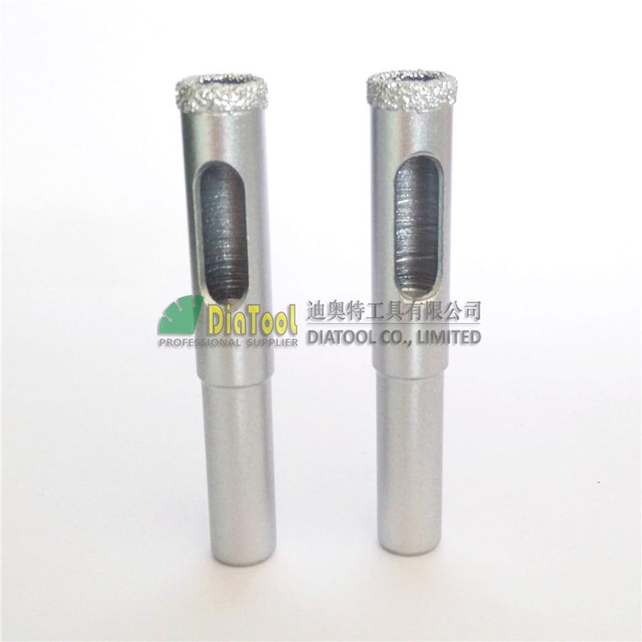 DIATOOL 2db Dia 12 mm-es vákuumforrasztott gyémántmag-bitek kerek szárral, száraz vagy nedves fúrófejekkel Ingyenes házhozszállítás