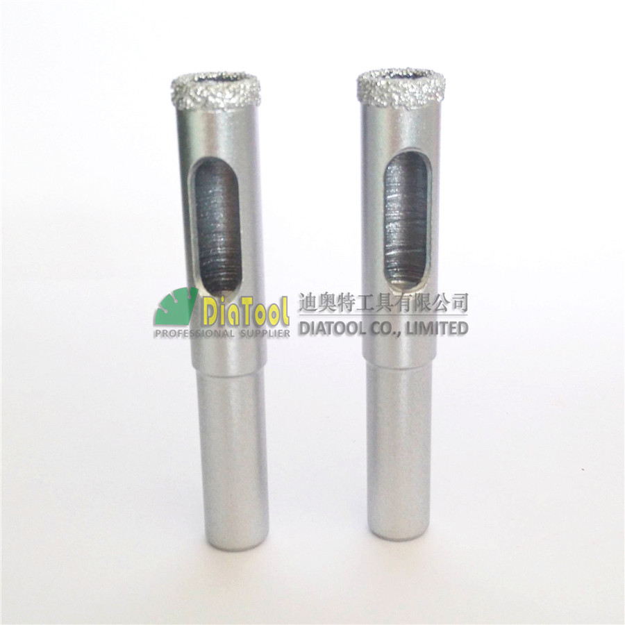 DIATOOL 2ks dia 12mm vakuové pájené diamantové jádrové vrtáky s kulatou stopkou, suché nebo mokré vrtné vrtáky Doprava zdarma