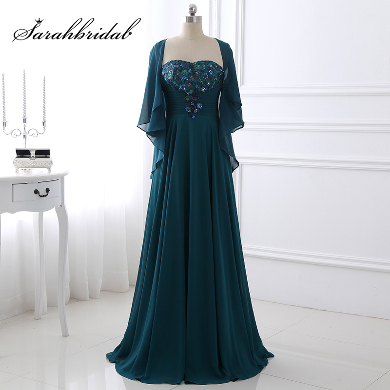 Best Mother Of The Bride Gowns: Green Medium Long Mother Of The Bride Dresses Plus Size