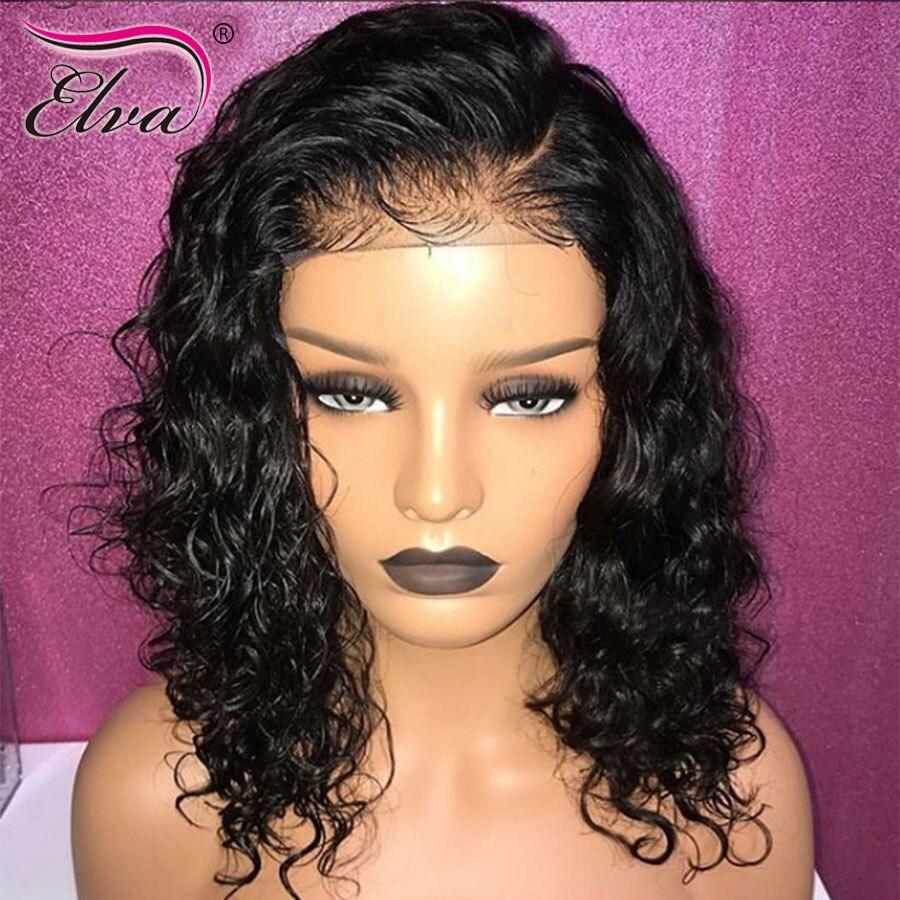 Elva Full Lace Human Hair Wigs For Black Women Curly Human Hair Full Lace Wigs Frontal Pre Plucked Baby Hair Brazilian Remy Hair