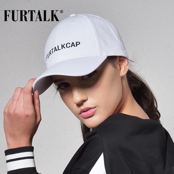 FURTALK White Black Baseball Cap for Women Men Snapback  Baseball Cap Summer Casual Hat 1