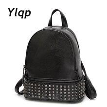 Новые Брендовые женские рюкзаки заклепки модные высокое качество кожаные сумки на плечо многофункциональный Леди кожаная дорожная сумка рюкзак сумка