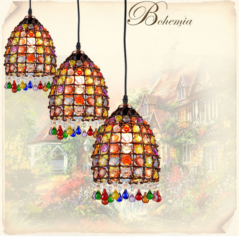 Bohemia Rural Bronze Metal Led Chandeliers Lustre Crystal Dining Room Led Pendant Chandelier Lighting Led Hanging Lights Fixture modern led crystal chandelier lights living room bedroom lamps cristal lustre chandeliers lighting pendant hanging wpl222