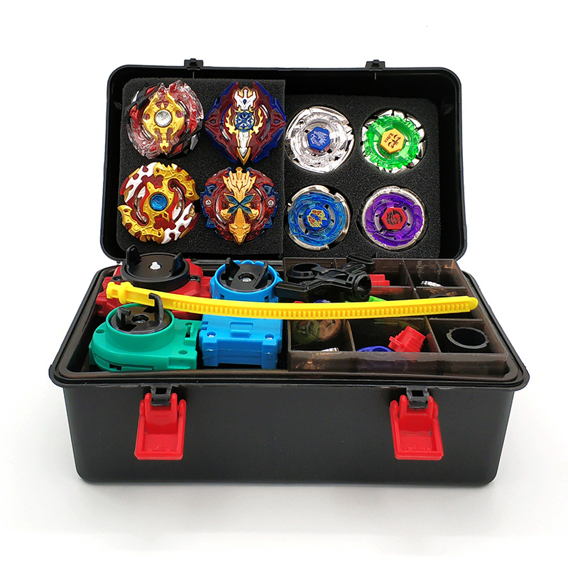 New 8PCS Beyblade burst Set bey blade Box whit Launcher Spinning Top Beyblades Metal Fusion Beyblade Toys For Children bayblade цена