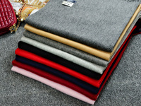 Solid Color Cashmere Scarf Female Korean Students Pure Wool Winter Scarf Shawl Dual Purpose Lovers Scarves