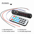 New Car Bluetooth MP3 WMA Decoder Board 12V Wireless Audio Module USB TF Radio Electronic Demo Board