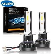 ASLENT 2pcs Super Mini LED H1 Auto Headlight H7 Car Accessories Bulbs H8 H9 H11 9005 9006 72W  8000LM Fog Light 12V Headlamp