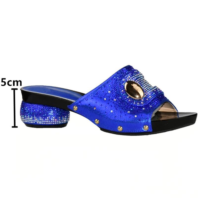 Zapatos Para El Nigeriano Y Partido Con Moda Negro De Fijados Zapato Decorado Nueva Bolsa Bolso Africanos En verde rojo Conjunto oro azul Mujeres Rhinestone q5p6c7w