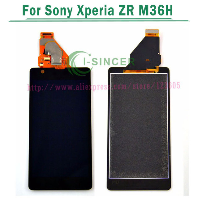 For Sony Xperia ZR M36h M36 C5503 C5502 LCD Screen and Touch Digitizer Assembly complete display Free shipping
