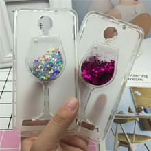 Glitter Quicksand Phone Cases for Lenovo Vibe C2 / C2 Power K10A40 Case Bling Cute Srtars Cup With Soft Silicon Back Cover 3D