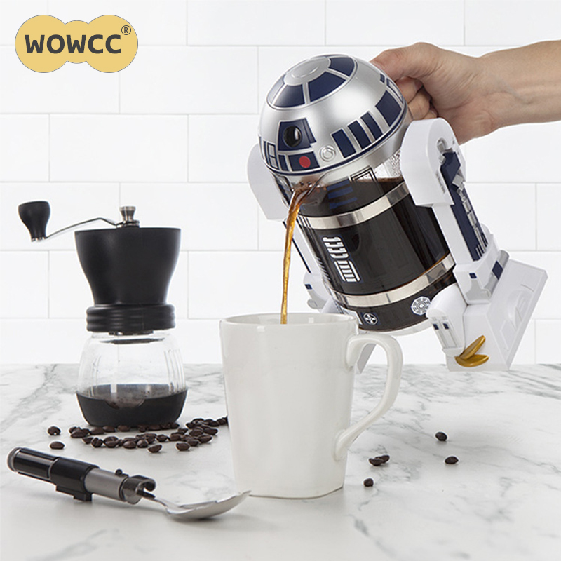 WOWCC Coffee Pot 960ml Home Mini Manual Coffee Maker French Pressed Portable Coffee Maker Turkish Coffee
