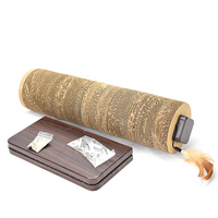 Cat Toy Corrugated Paper Scratch Board Pad With Feather Kitten Cat Scratching Post Toy For Cats Tower Climbing Tree Pet Game