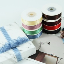 20yards/lot 16mm Satin Stripes Organza Ribbon for Flowers Gifts Wrapping Party Wedding Decoration Craft Supplies  DIY Hairbow