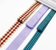 Gingham Checked Ribbon 1 Inch 25MM 5/8 16MM 1.5 1/2 38MM 3/4 19MM 100% Polyester Fabric Tapes Handmade Decor Wrap Band