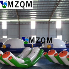 MZQM 3X2.1m  air sealed 0.9mm pvc tarpaulin inflatable Seesaw inflatable rocker, inflatable seasaw rocker for water sports
