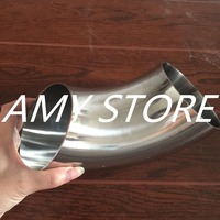102MM 4 OD Sanitary Weld Elbow Pipe Fitting 90 Degree Stainless Steel SUS SS304