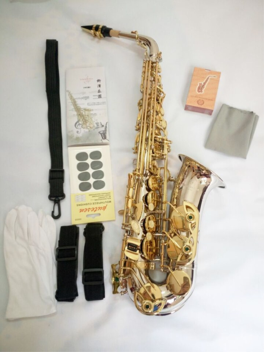 Alto Sax High quality Brand NEW YANAGISAWA A-WO37 Alto Saxophone Nickel Plated Gold Key Professional Sax Mouthpiece With Case туника gaudi gaudi ga629ewjid06