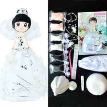 Kit Slime DIY Slime Supplies Clay Western Princess Dolls With Glue And Silk Dress Colorful Clay Handmade Christmas Gift For Girl