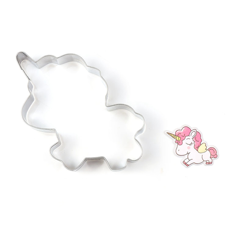 5pcsset Innovative Unicorn Cookie Cutter DIY Fondant Chocolate Cake Embossing Stencil Mold Biscuit Mold Baking Tool