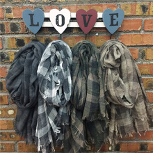 New Plaid Tassel Lady Oversized Blanket Tartan Scarf Wrap Shawl Plaid Cozy Checked Pashmina Accessories CO145W