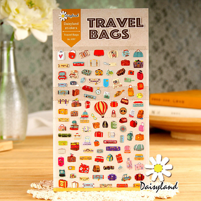 5 pcs /lot scrapbooking stickers post it stationery Suitcase scrapbook paper kawaii stickers/ Wholesale Daisyland1157