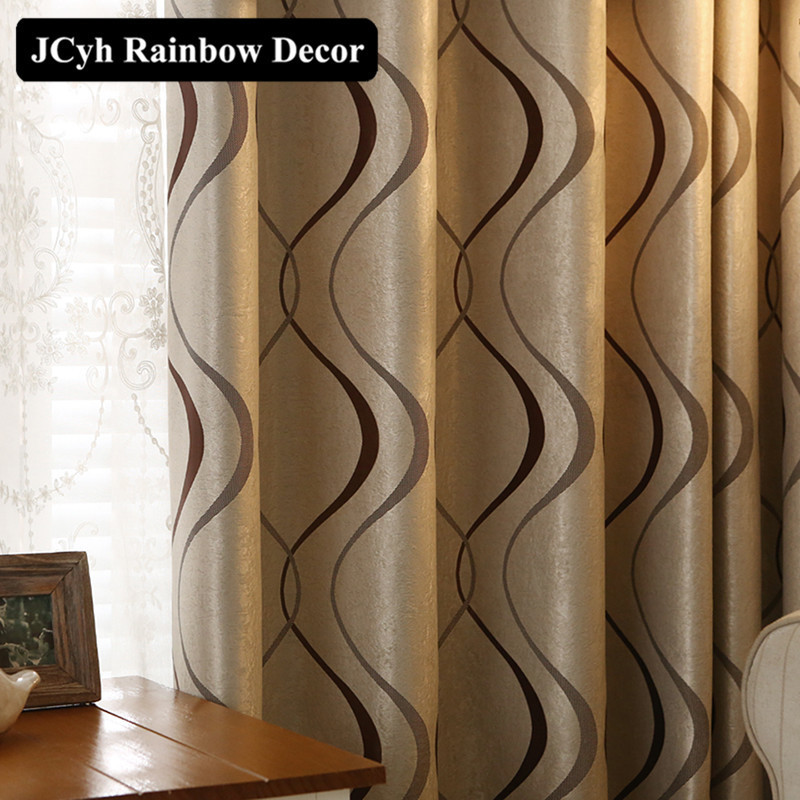 Luxury Wavy Thick Striped Curtain For Living Room Bedroom Kitchen Decoration Modern Blackout Curtains Panel Fabrics Chinese