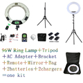 FE-480II био-цветная кольцевая лампа 480 Светодиодная лампа для фотосъемки Салон красоты макияж селфи освещение + подставка + сумка + батарея CD50
