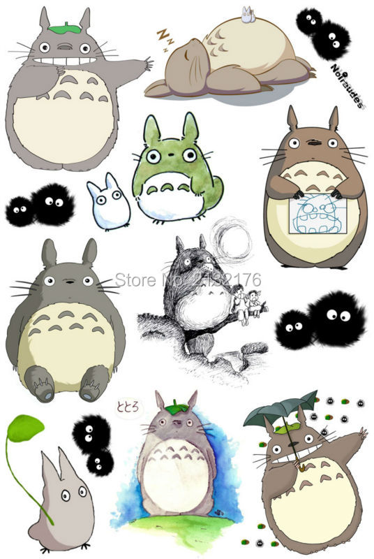 2PCS Totoro chinchilla Doodle Cartoon Skateboard Suitcases Guitar Car Bike Laptop Vinyl Stickers PVC Waterproof sticker decal vintage lady beauty luggage skateboard stickers pvc waterproof sunscreen car stickers 5 12cm laptop stickers