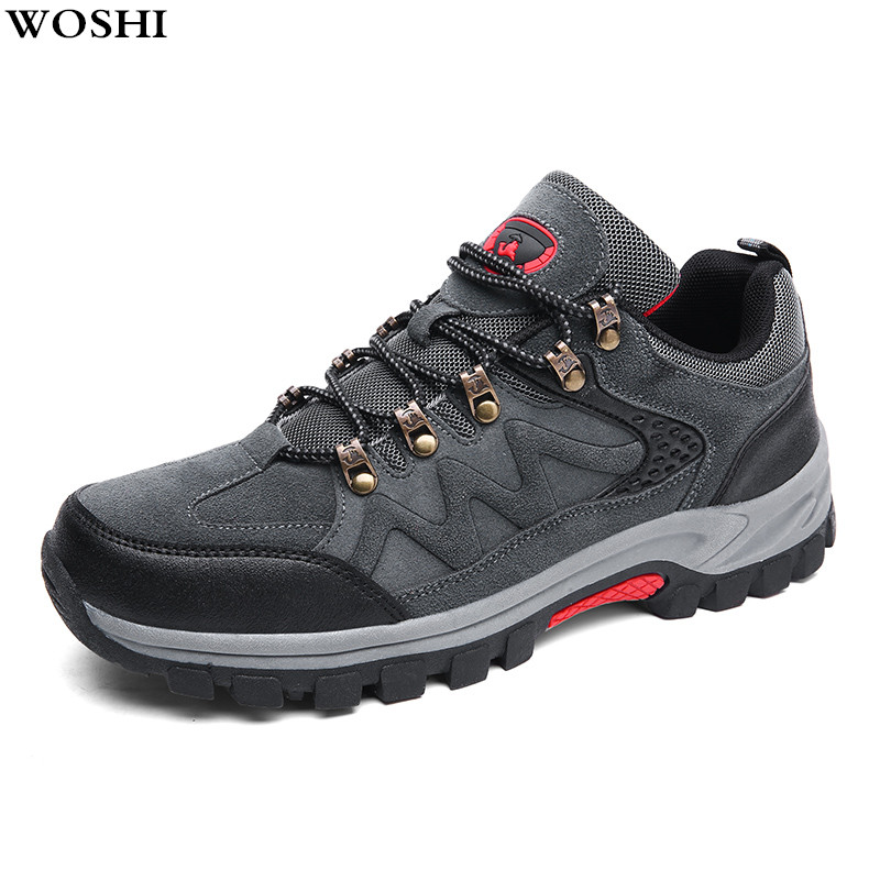 New Arrival Hiking Shoes men Low Cut Boots Outdoor Sneakers Athletic Sport Mountain Shoes Men Trekking Breathable Climbing Shoes new outdoor men hiking shoes breathable high top sport climbing shoes men sneakers ankle boots hunting hiking shoes men 3r38