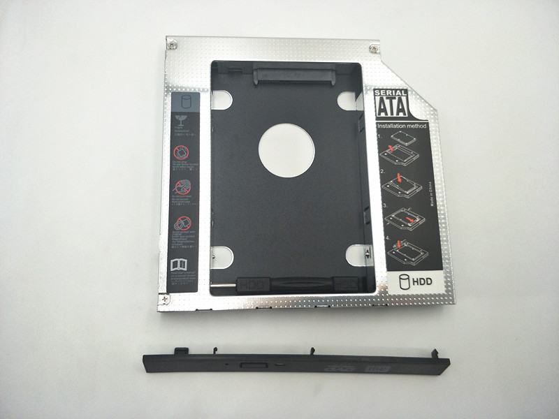12.7mm SATA HDD SSD Hard Drive Caddy Optical DVD Bay Adapter For Asus K53SV