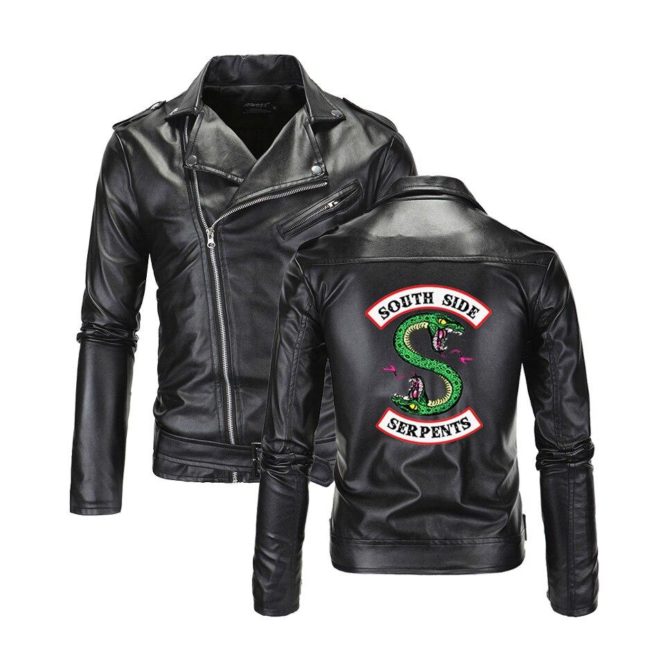 Southside Riverdale vestes en cuir à col rabattu Serpents hommes Riverdale Streetwear en cuir marque south side serpents