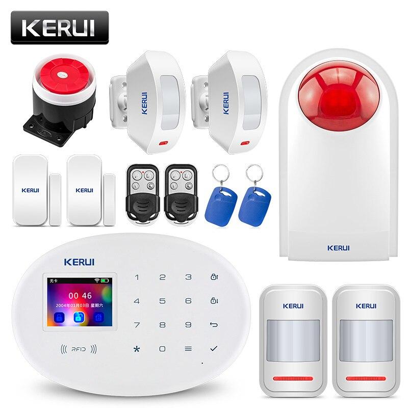 KERUI W20 GSM rfid-карты Disalarm Беспроводной дома сигнализация приложение Управление детектор движения TFT Цвет Экран охранной сигнализации Системы