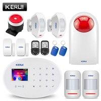 KERUI W20 Радиочастотная Идентификация gsm карты Disalarm Беспроводной Главная охранной приложение будильник Управление детектор движения TFT Цвет Э