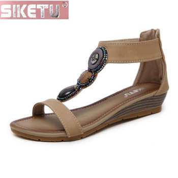 Rebordear Mujer Sandalias Cuña Siketu De Cremallera Planas Zapatos Oficina Pu Romanas Conducir Espalda zMVGUSpq