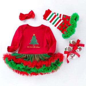 Vêtements de noël pour filles 4 pièces   Tenue pour bébés filles, ensemble pour nouveaux-nés et filles de 1 an