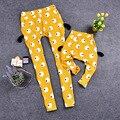 La familia a juego trajes de dibujos animados pantalones Family Clothing madre e hija ropa mamá y el bebé ropa ropa de dibujos animados, WY19