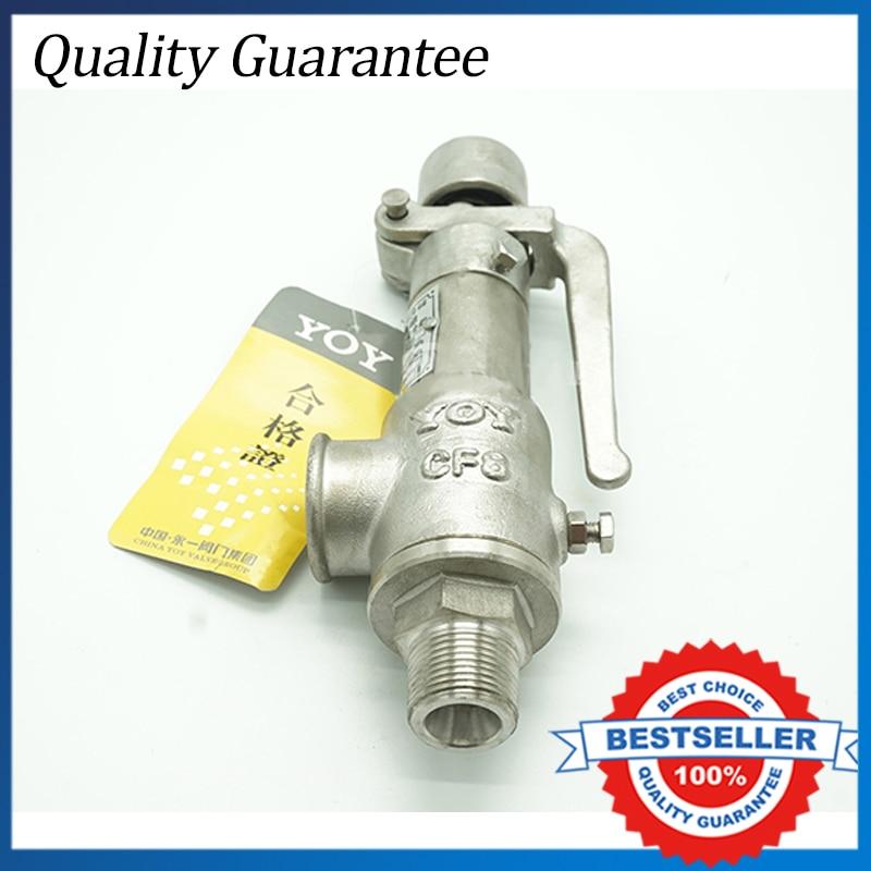 DN50 Big Stainless Steel Spring External Thread Safety Valve