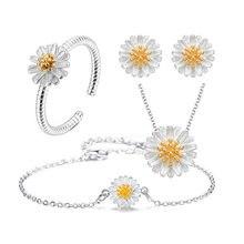2018 Новое поступление серебряный цвет маргаритки цветок браслеты