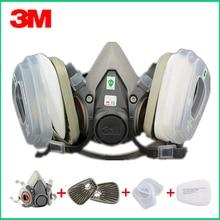 3 м 6200 противогаз с 603 адаптером фильтра для защиты от пыли маска для покраски распыления противогаз Пылезащитная респиратор