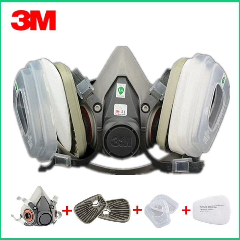 3M 6200 Gas Mask With 603 Filter Adapter For Anti Dust Mask Painting Spraying Gas Mask Dust Proof Respirator
