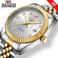 HAIQIN 女性の腕時計ゴールド機械式女性時計女性はトップブランドの高級時計レディース腕時計女性レロジオ Feminino