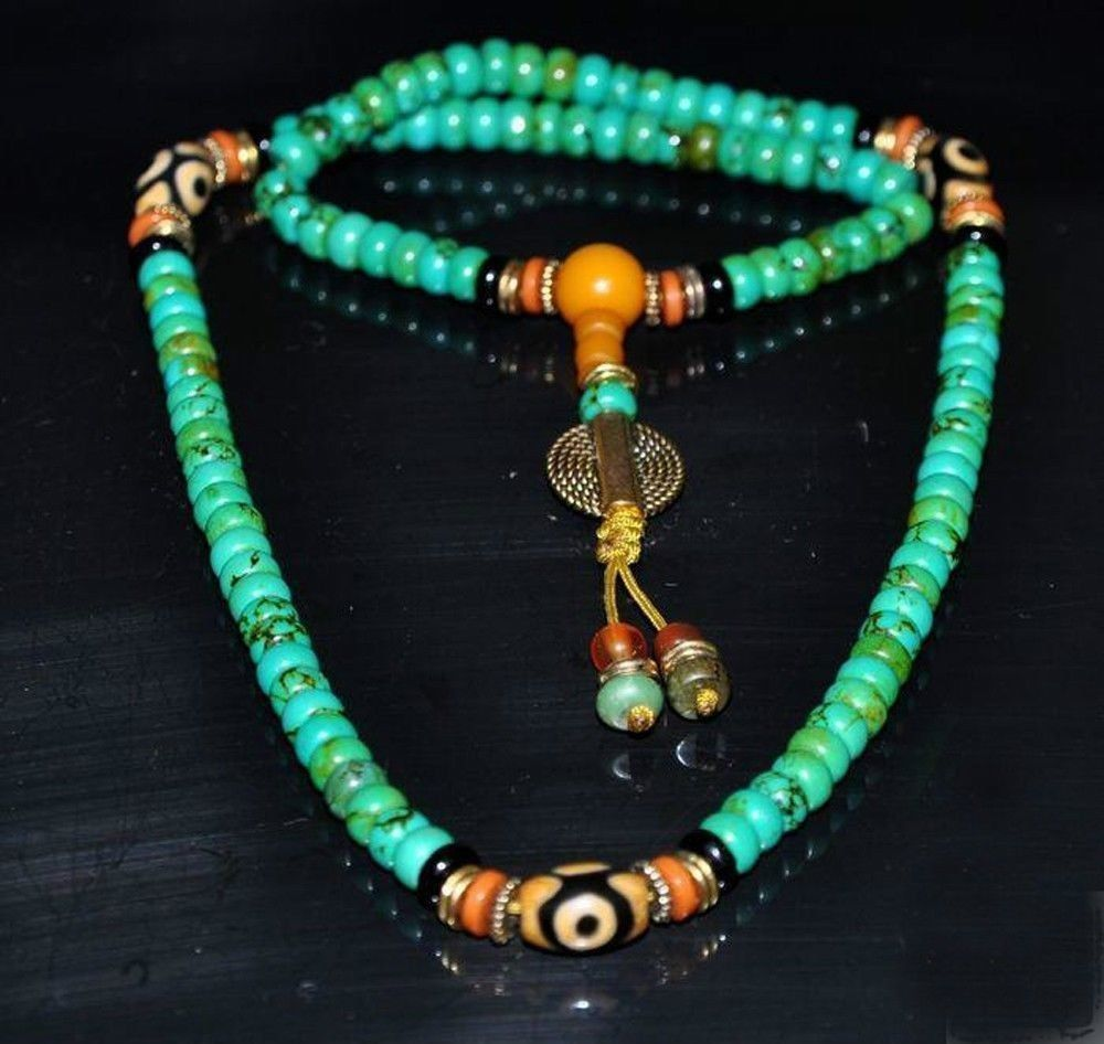 Tibet Tibetan Turquoise Buddhist Buddha Prayer Bead Bracelet Dzi Eye Pendant Necklace Sweater Chain Jewelry Gift Wholesale tibet tibetan turquoise buddhist buddha prayer bead bracelet dzi eye pendant necklace sweater chain jewelry gift wholesale