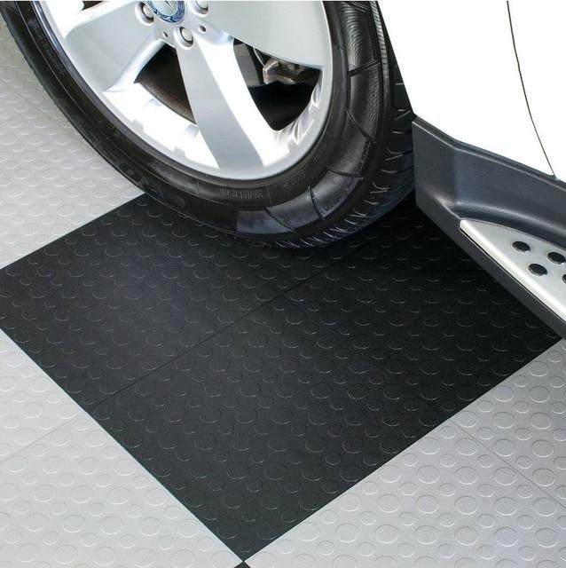 Mm thickness modular interlocking garage gym and utility vinyl