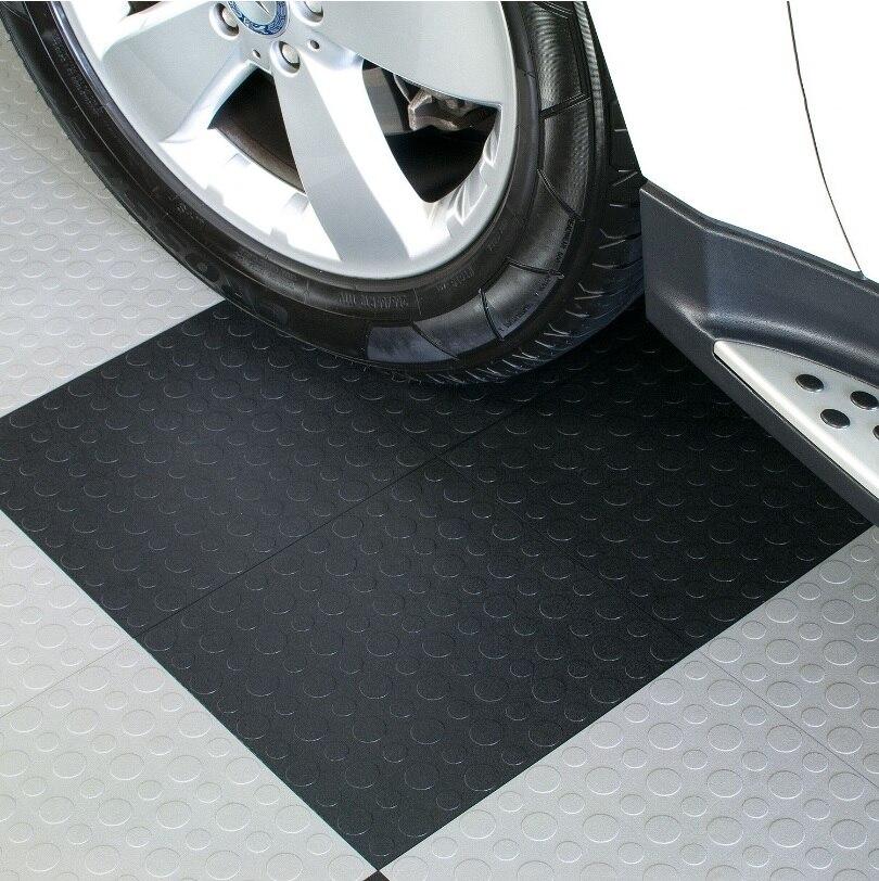 Tuiles modulaires de plancher de vinyle de gymnase de Garage et d'utilité d'épaisseur de 6.7mm 500x500mm, paquet de 30 mètres carrés