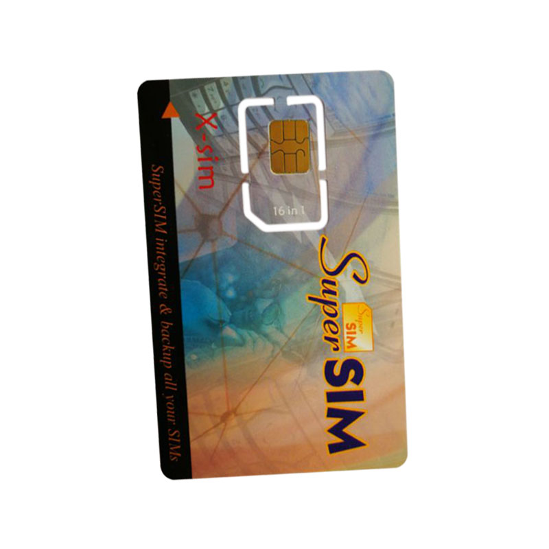 16 In 1 Max SIM Cell Phone Magic Super Card Integrate Backup All Your Sims X-Sim Blank Standard Mini SIM Card