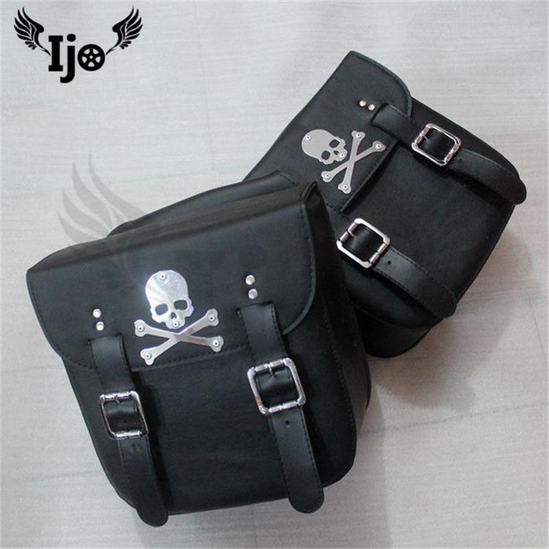alforjas para moto side bag motorcycle bag Skull for Vespa benelli piaggio harley sportster softail givi mochila moto saddle bag