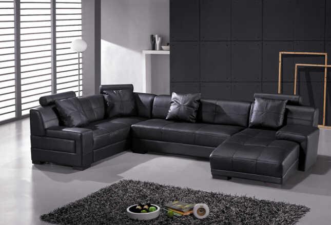 Современный кожаный угловой диван с диван из натуральной кожи секционные диваны для гостиной