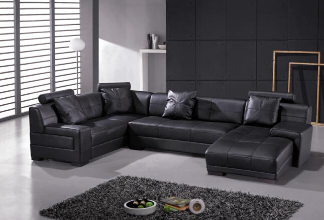 Sofas Für Wohnzimmer Ecksofa Aus Leder Für Echtes Leder Moderne Sitzgruppe  Design(China (Mainland