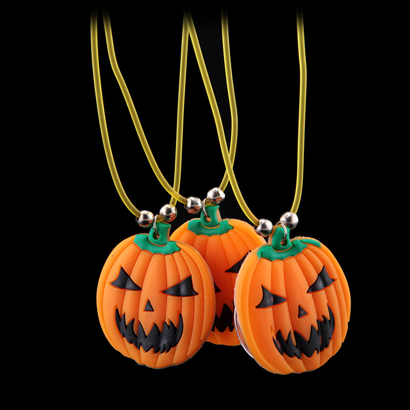Halloween luminous necklace pendant necklace flash ...